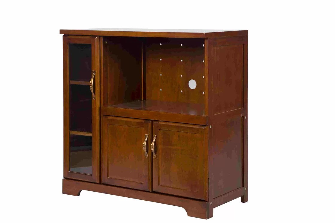 Cabinet Oak Furniture Durable Sturdy Home Wood Furniture Small Small Storage Cupboard