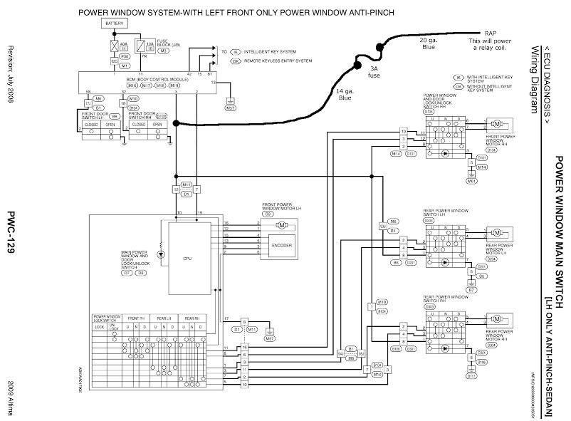 2007 nissan altima window wiring diagram