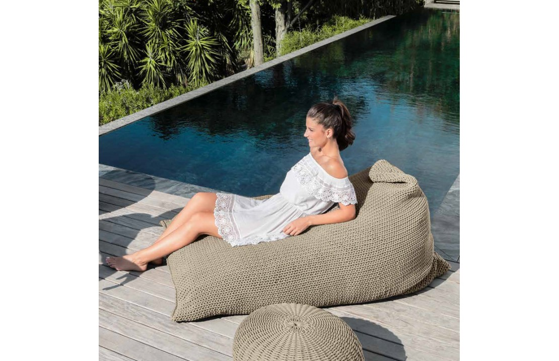 Outdoor Bag Pouf In Hand Woven Rope Jackie Bean