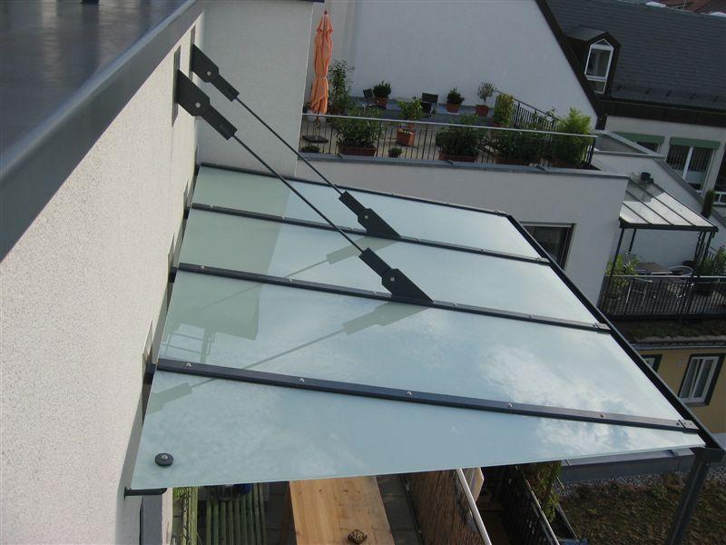 Balkonüberdachung Glas