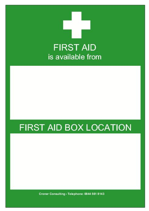 First Aid Notice Form