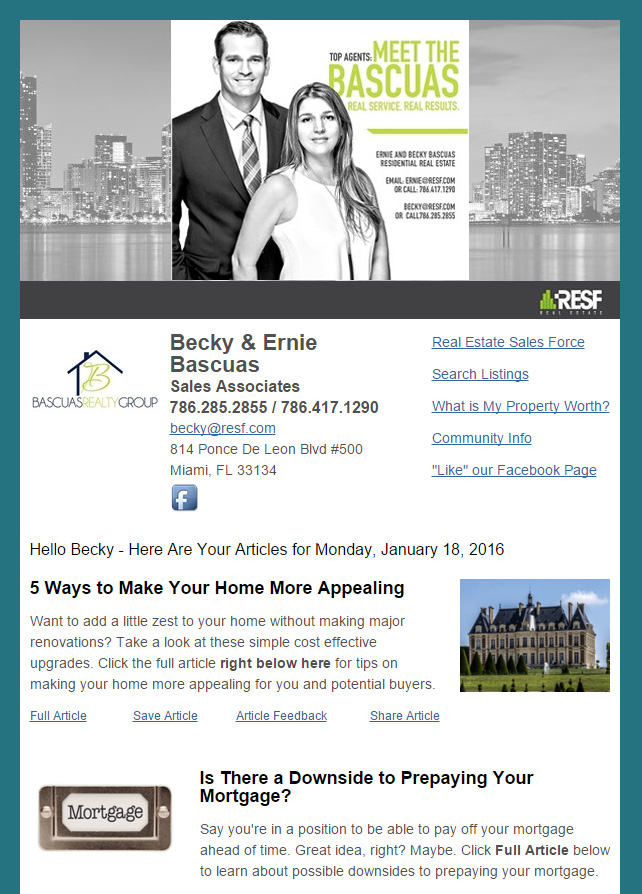 Sample Newsletters \u2013 HomeActions