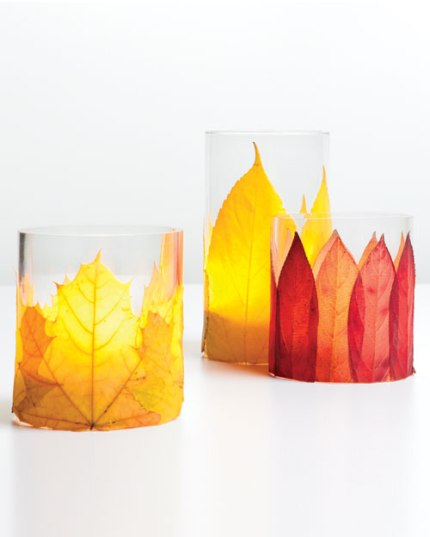 Flaming Foliage Candleholders