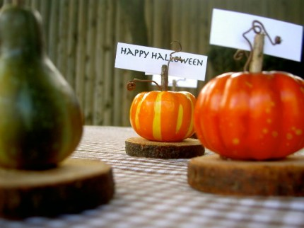 Pumpkin Place Cards