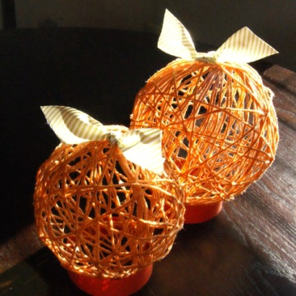 Yarn Ball Pumpkins