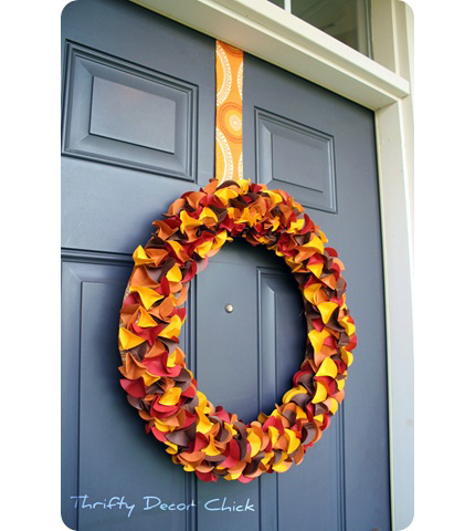 Paper Fall Wreath