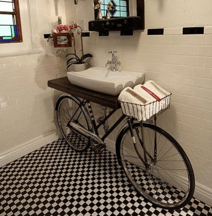 Bicycle Bathroom Vanity