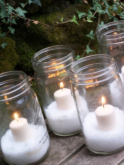 Epsom Salt Mason Jar Candles