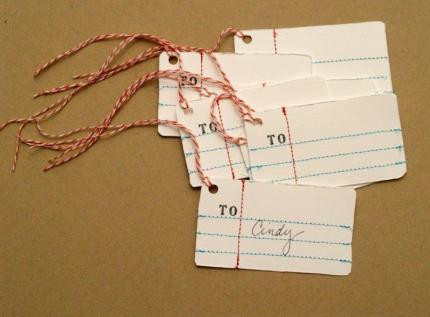 Penmanship Gift Tags