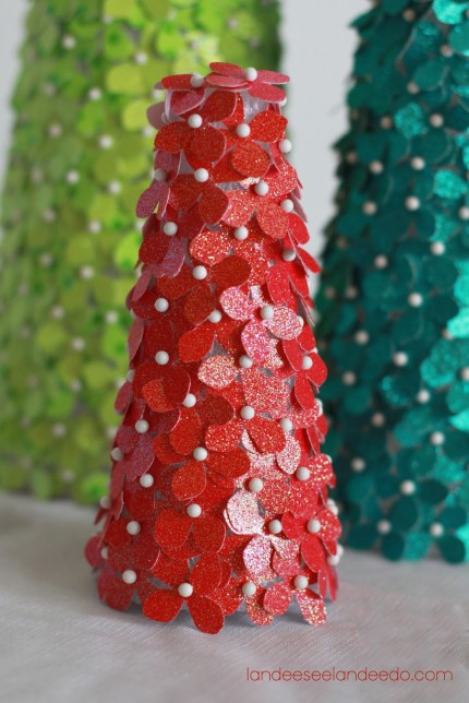 Glittered Card Stock Trees