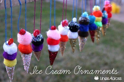 Ice Cream Cone Ornaments