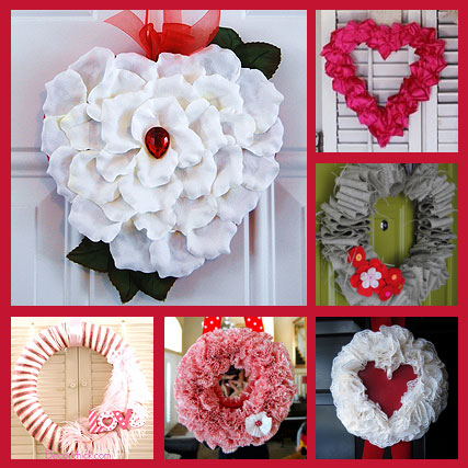 6 Valentine Wreath Ideas
