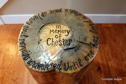 Keepsake Tree Stump Table