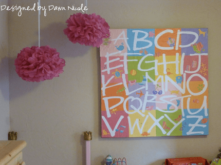 Alphabet Wall Art inspired by Pottery Barn