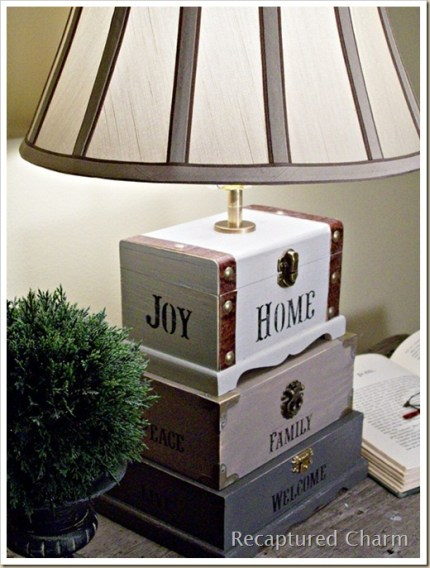 Dollar Store Trinket Box Lamp