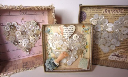 Button Heart Diorama