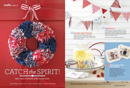 Craft spread in Country Woman Magazine