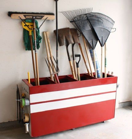File Cabinet Turned Garage Storage