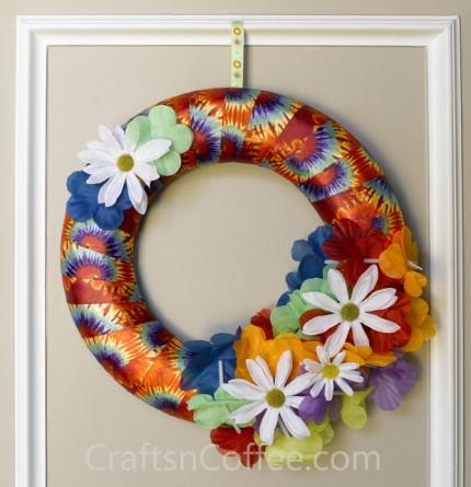 Tie Dye Wreath