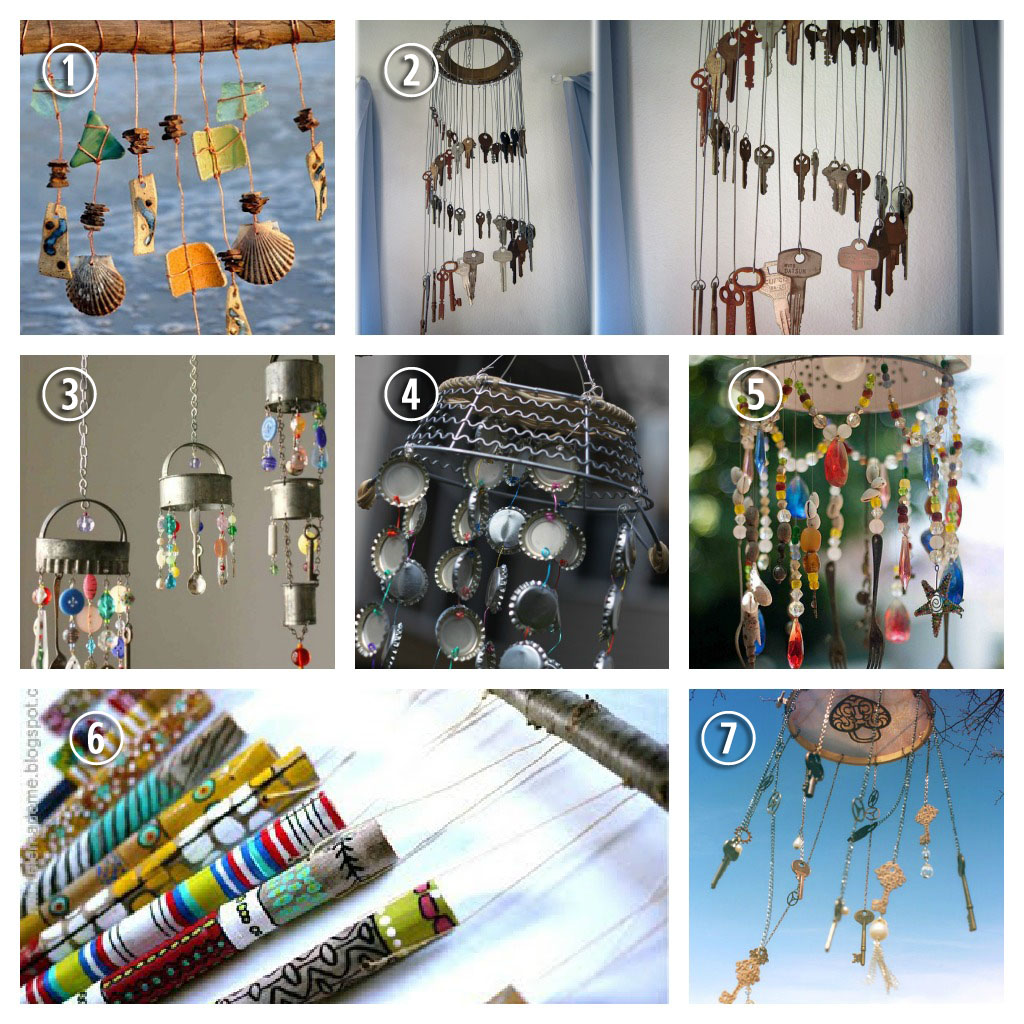 7 really cool wind chime ideas home and garden for Wind chime ideas