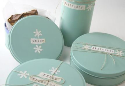 Painted Cookie Tins
