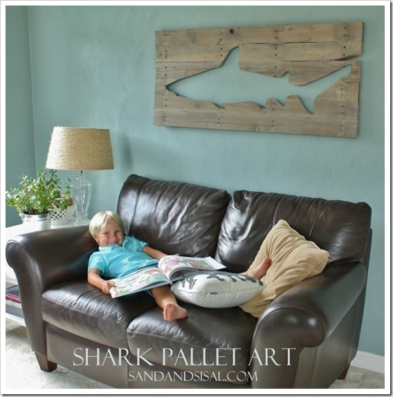 pallet shark wall art home and garden