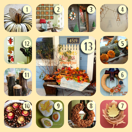 13 Fall Decorating Ideas for Your Home from homeandgarden.craftgossip.com