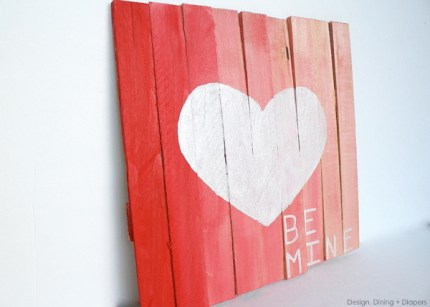 Mini Pallet Valentine's Day Plaque