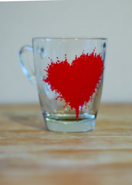 Valentine Painted Mugs