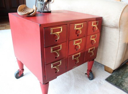 Card Catalog Side Table