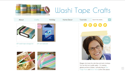 New Site: Washi Tape Crafts