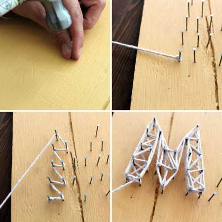 diy nail string art home and garden