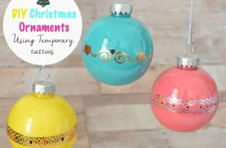 How To Make a Christmas Ornament Using Temporary Tatoos