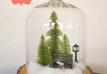 Make Your Own Miniature Winter Scene Cloche