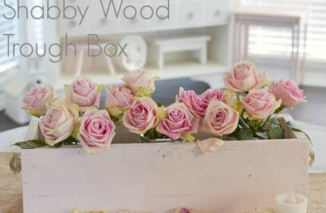 DIY Shabby-Chic Wood Trough Box