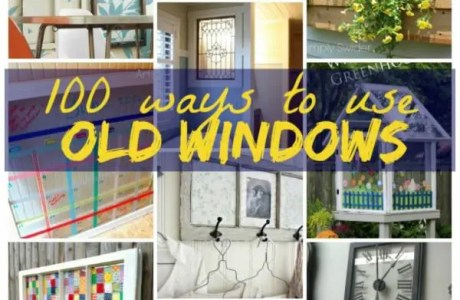 Using Old Windows In Your Home Decor