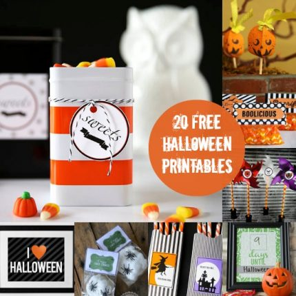 20 Free Printables for Your Halloween FUN