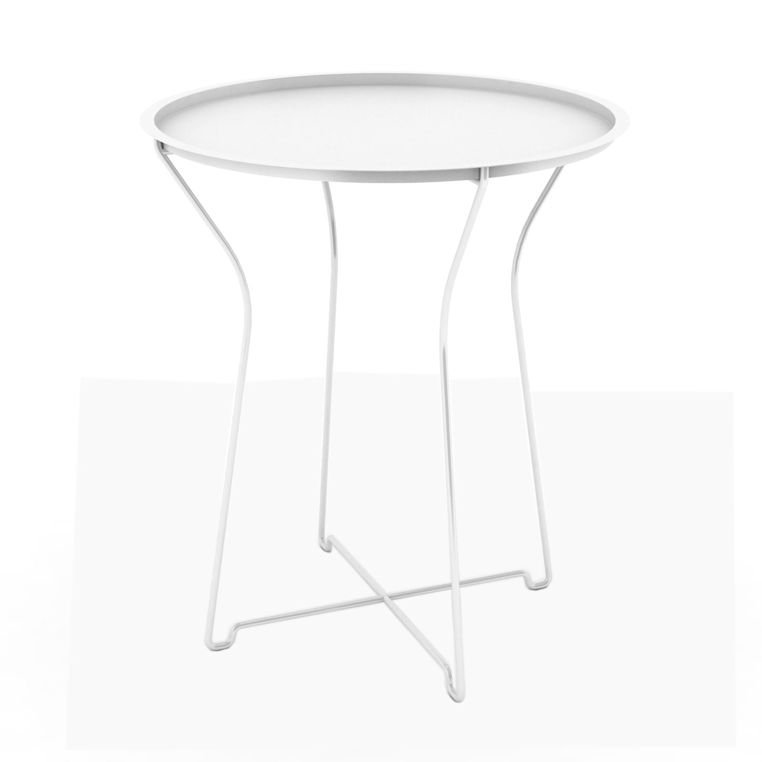 White Metal End Table Metal Side Table White