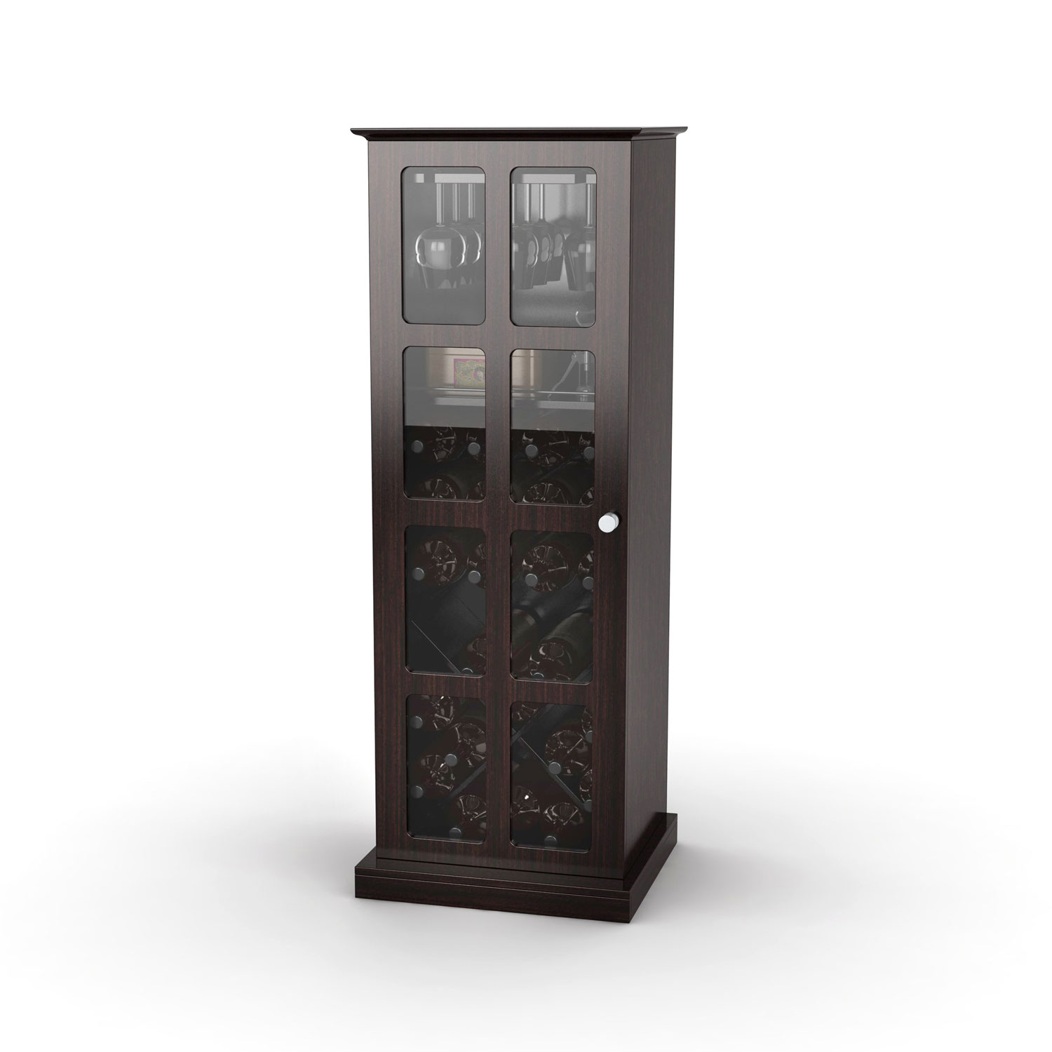 Small Wine Storage Cabinets Windowpane 24 Wine Cabinet In Espresso