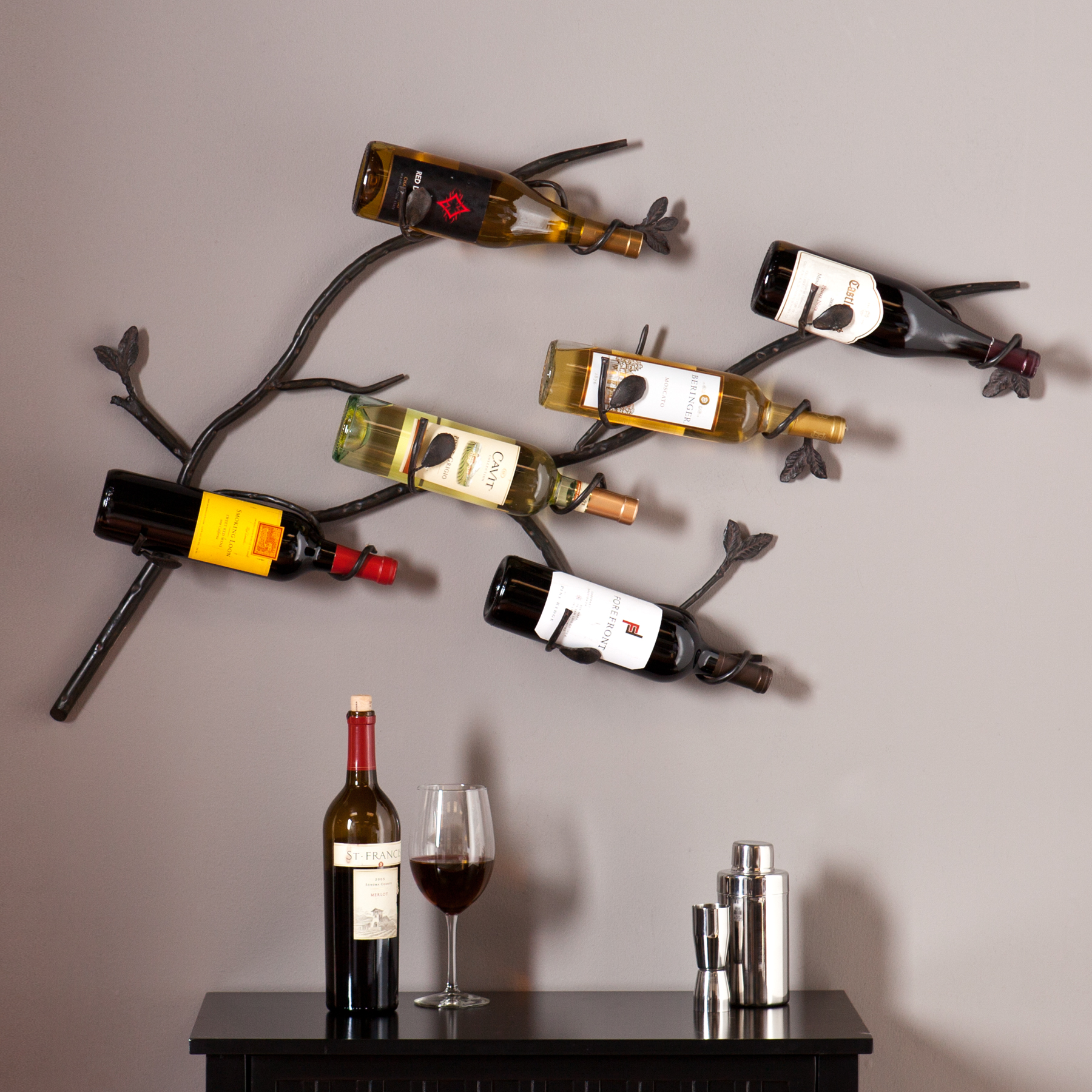 Iron Wine Rack Wall Mounted Brisbane Wall Mount Wine Rack