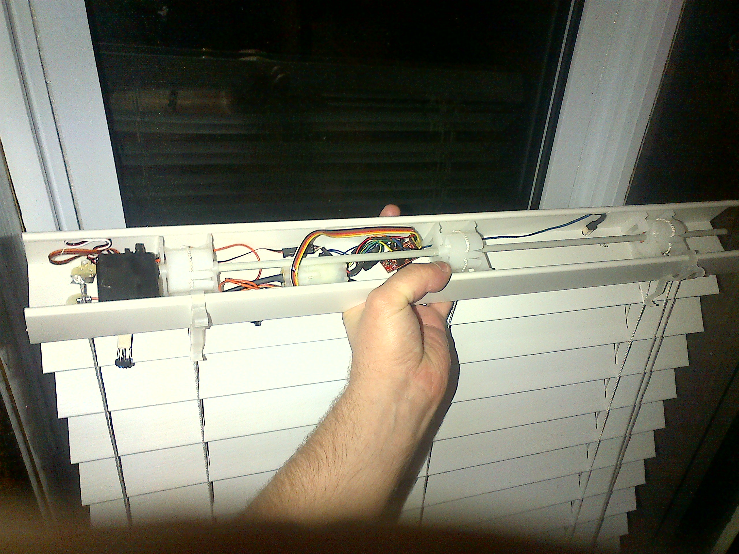 Diy Automatic Curtains Automated Window Blinds With Arduino Home Awesomation