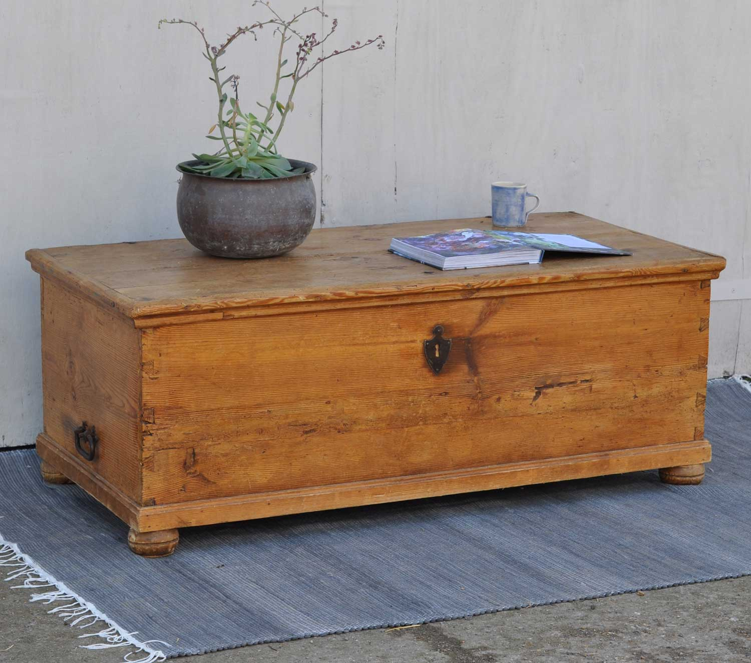 Linen Box Antique Pine Blanket Box Linen Chest Coffee Table Home