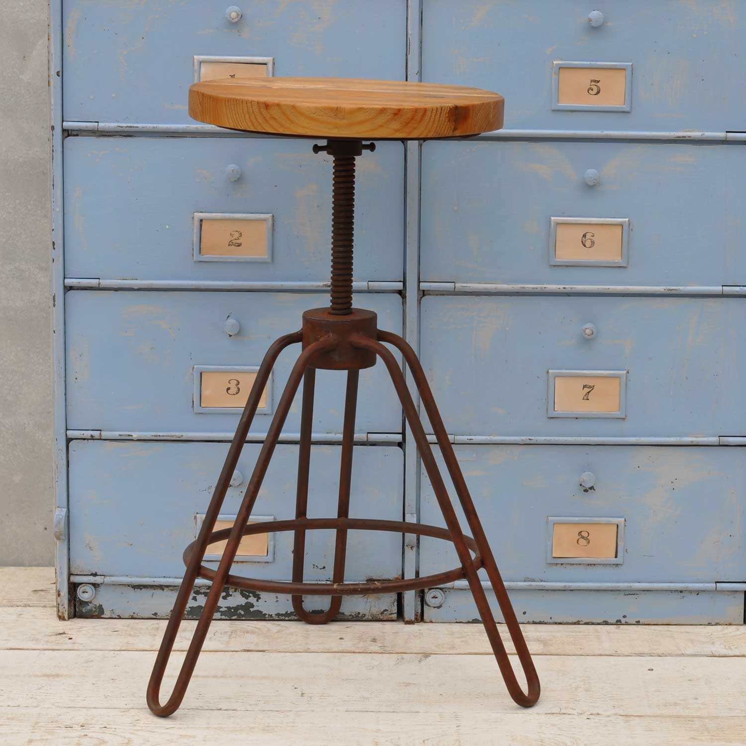 Industrial Counter Height Bar Stools Industrial Adjustable Height Bar Stool Metal Frame Home