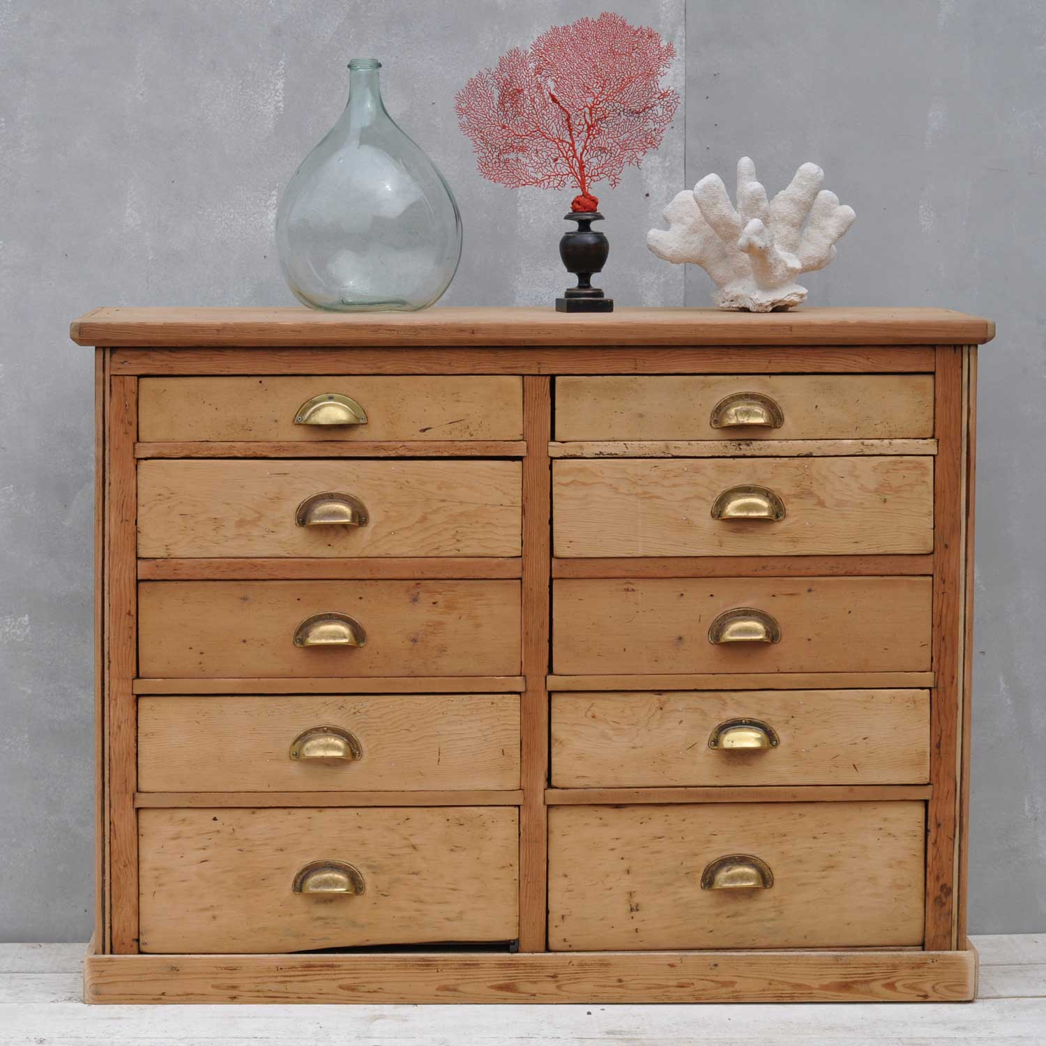 Cupboard Drawers Pine Victorian Haberdashery Cupboard With Ten Drawers Home Barn