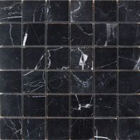 Polished Marble Mosaic Tiles - Black - 305 x 305mm
