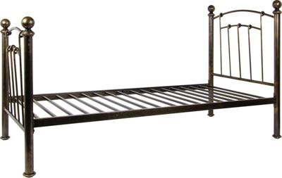 Iceland Wrought Iron Double Bed Frame Antique Brass