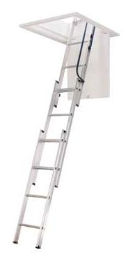 Image For Abru Loft Ladder 3 Section Easy Stow From
