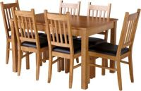 Hygena Cucina Extending Dining Table and 6 Chairs - Oak
