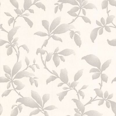 Fresco Fabric Branches Wallpaper - Silver at Homebase -- Be inspired and make your house a home ...