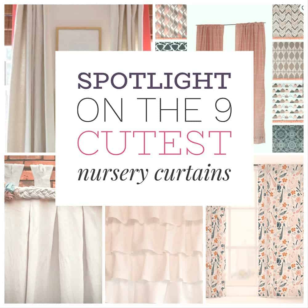 Spotlight Ready To Hang Sheer Curtains Spotlight On The 9 Cutest Nursery Curtains Home Beautifully